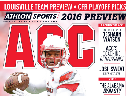 Athlon football yearbook predicts Louisville quarterback Lamar Jackson will be one of the 20 breakout stars in 2016.