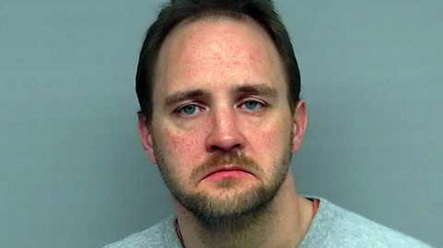 Police say 39-year-old Aaron Keown vandalized a historic firehouse in Jeffersonville early on May 19, then crashed into a gas station and two police cruisers before being taken into custody.