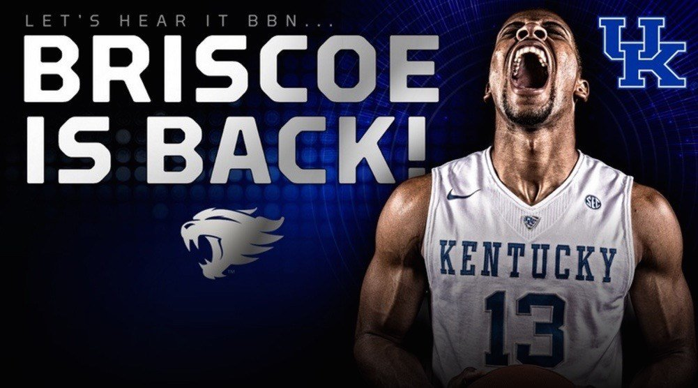 This graphic from UKathletics.com shows how big a deal UK thinks Isaiah Briscoe's return to the team next season will be.