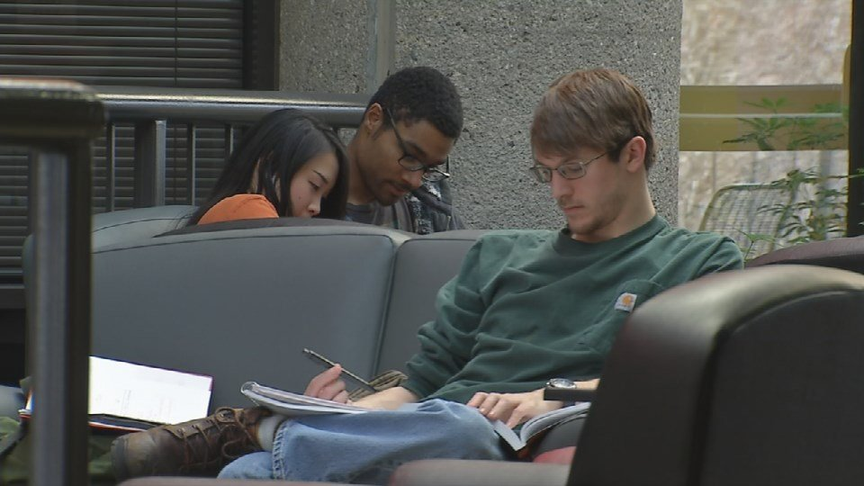 Students at the University of Louisville