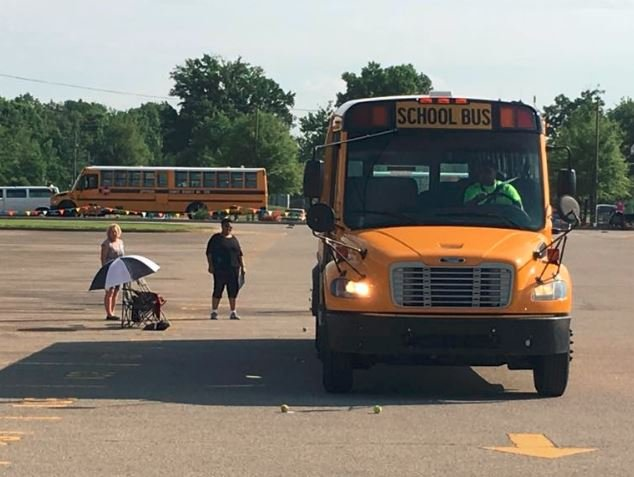 The 36th annual JCPS Bus Safety Road-E-O was held Friday, May 27, 2016 (Photo by Toni Konz, WDRB News)