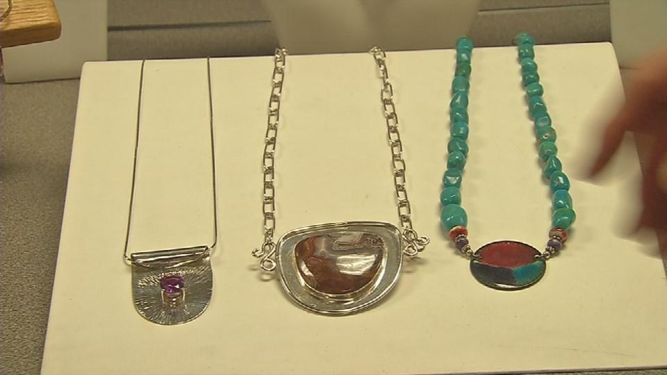 Some of Boles' jewelry designs