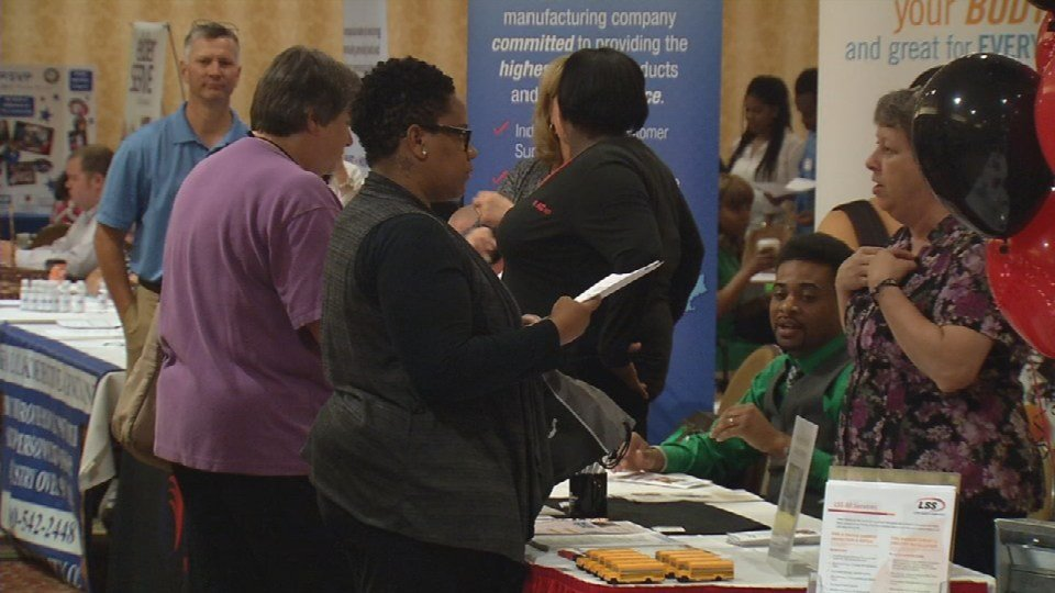 A job fair in Louisville, June 2016