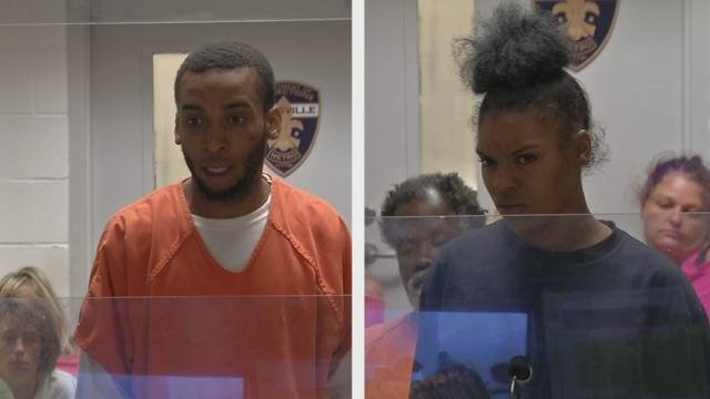 Devonte Brightwell (left) and Branielle Allen (right) during a court appearance on June 27, 2016.