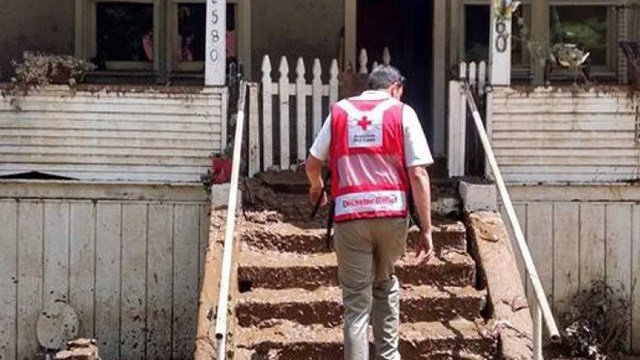 Red Cross disaster teams conduct damage assessments throughout communities impacted by severe flooding in West Virginia. Photo credit: American Red Cross.