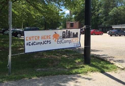 The inaugural 'EdCampJCPS' was help Wednesday at Waggener High School (Photo by Toni Konz, WDRB News)