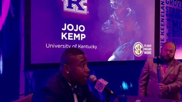 Kentucky halfback Jojo Kemp said the Big Blue Nation needs a winning football program.