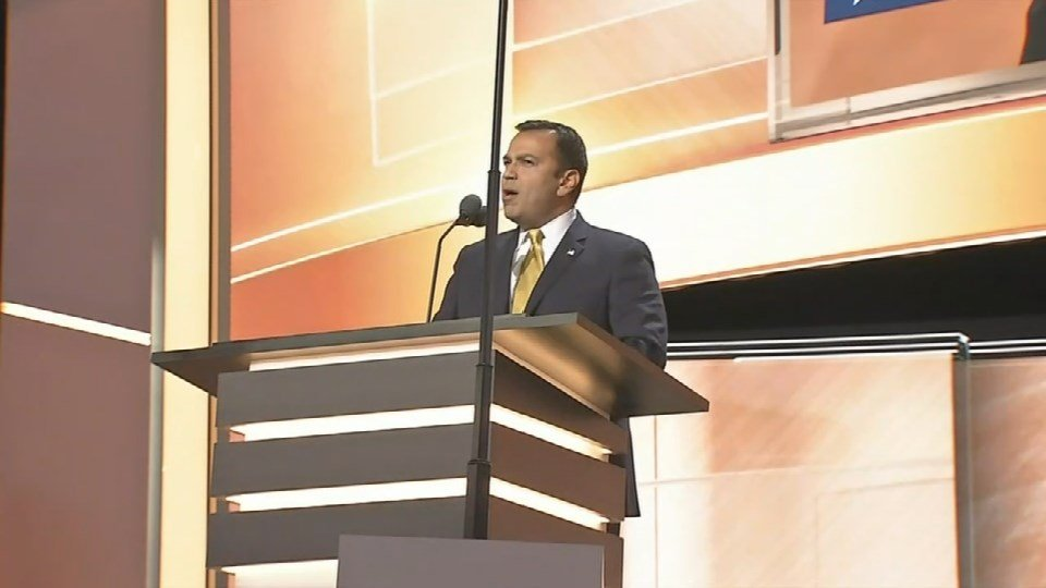 State Senator Ralph Alvarado from Winchester, Kentucky received a standing ovation at the Republican National Convention Wednesday night.