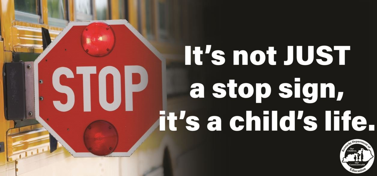 Kentucky motorists will soon see this billboard reminder to watch out for stopped school buses