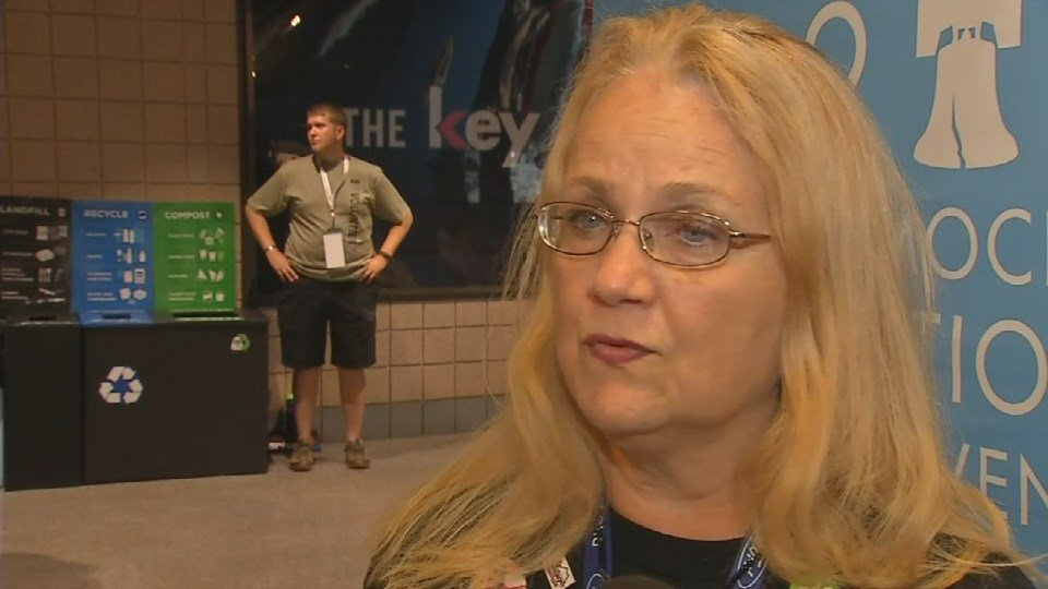 Olivia Anne Morris Fuchs, a delegate from Kentucky, said the difference between the Republican convention and the Democratic convention is like night and day.