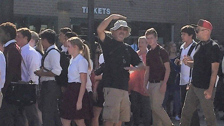 Day of filming at St. Xavier High School (Source: St. Xavier High School)