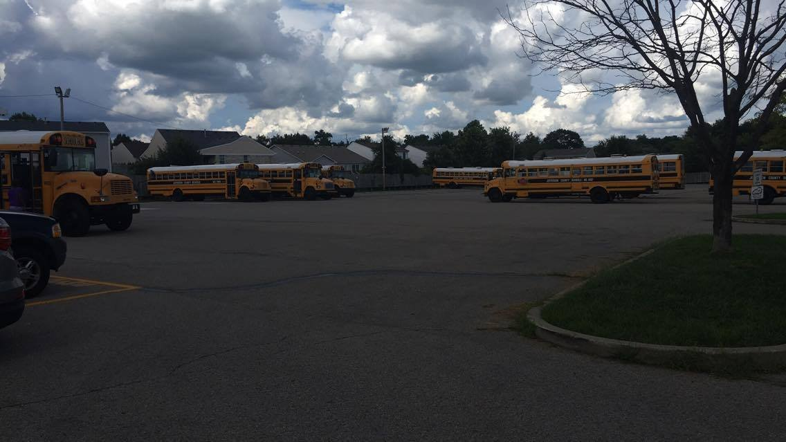 A parent at the Wilhoite Compound sent us an image of buses waiting to pick up kids to transfer them to bus stops.