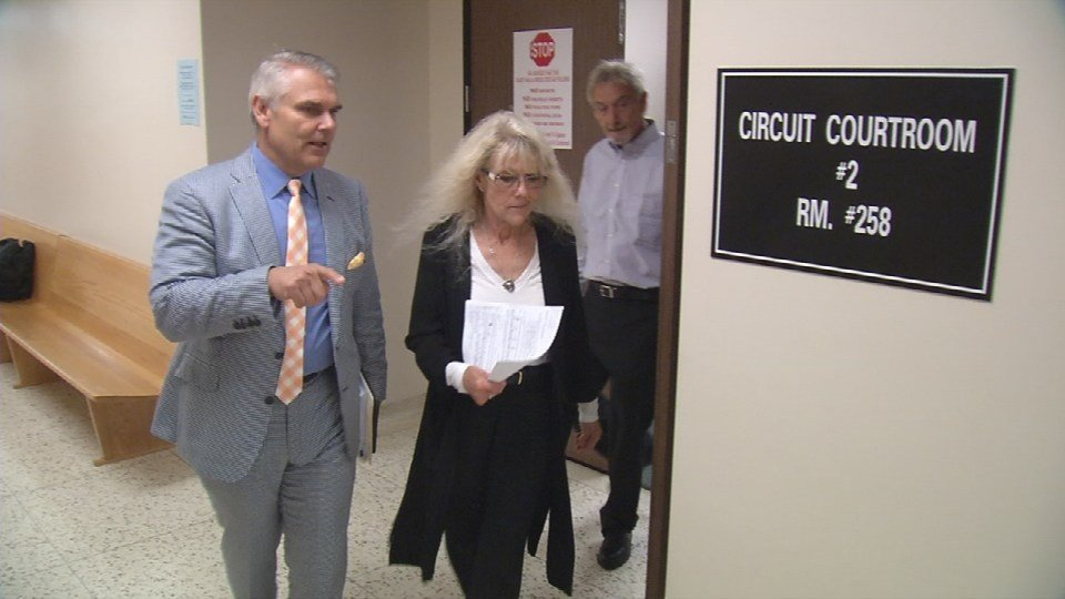 Denise Brooks and her attorney, Larry Wilder.