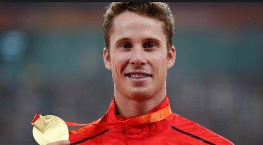 Canadian Derek Drouin won the fifth gold medal at the Rio Games by an Indiana University athlete. (AP Photo.)