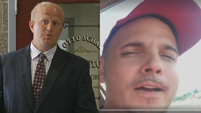 Harrison County Prosecutor Otto Schalk and Christopher Broy