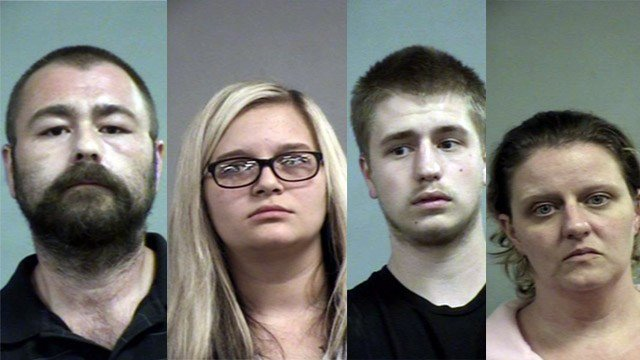 Walter Lee Hudson, Carlee Anderson, Donavin Hudson and Candy Hudson (Source: Louisville Metro Corrections)