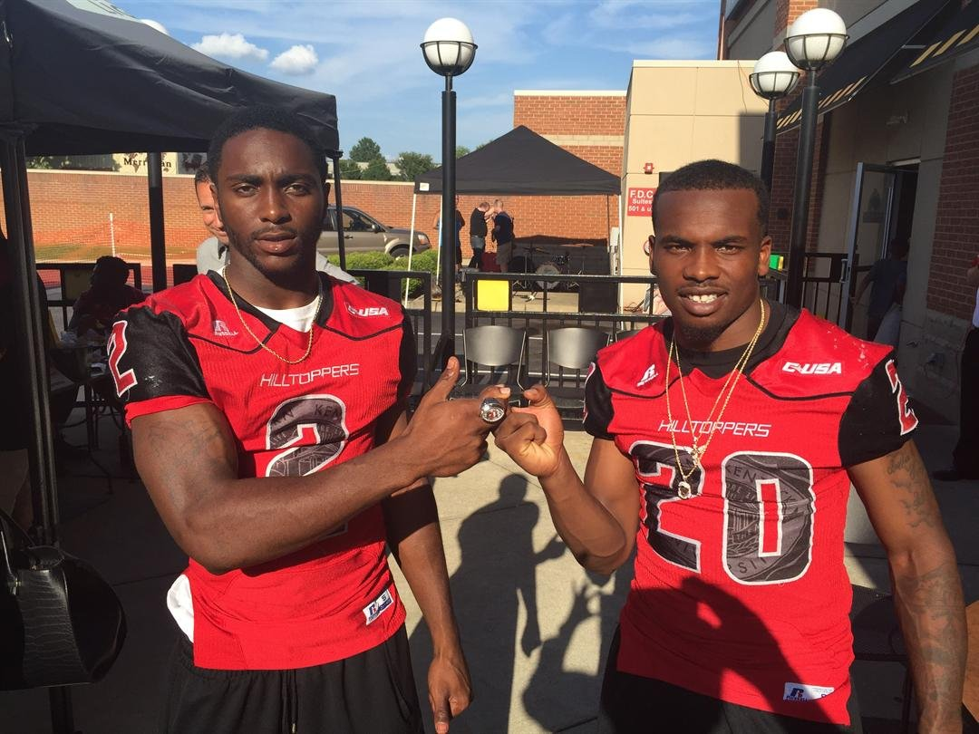 Taywan Taylor (left) and Ace Wales lead WKU into the 2016 football season.