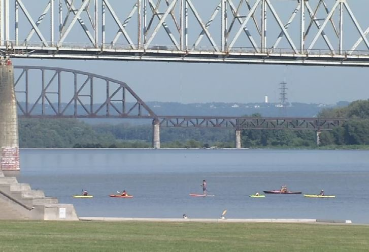 The twice annual Hike, Bike & Paddle event was held on Monday on the Louisville waterfront