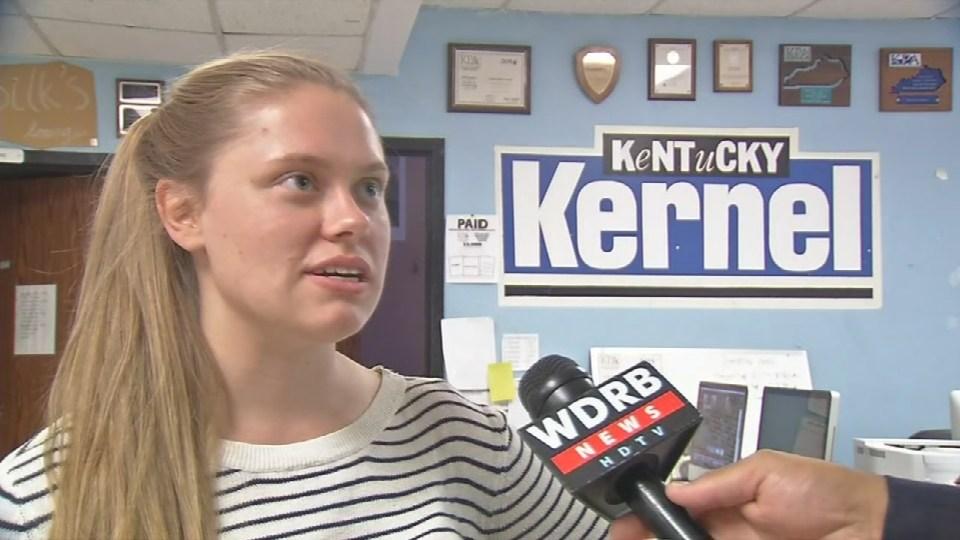 Marjorie Kirk, Editor-in-chief of the Kentucky Kernel