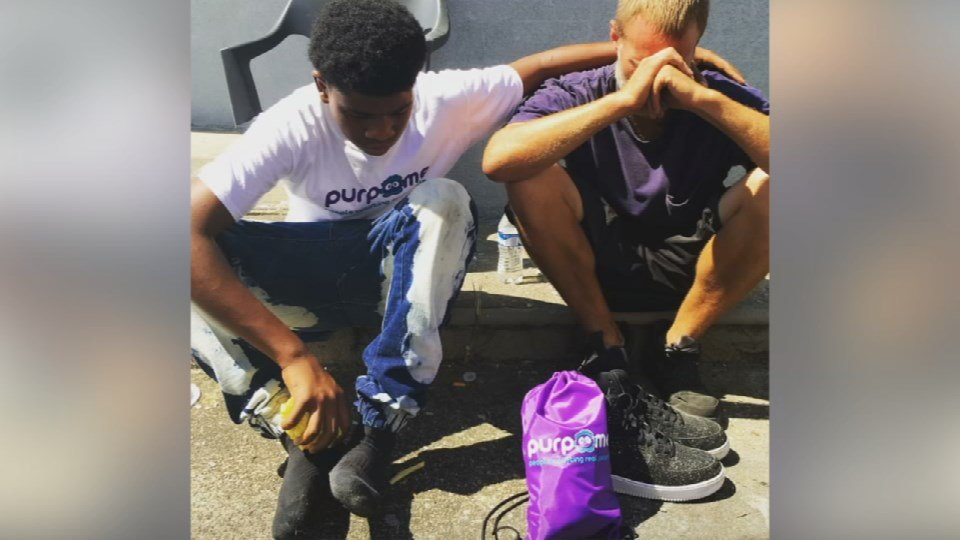 Last week, we shared the story of a west Louisville teen who gave his shoes to a homeless man.The picture and video became a big talker on social media.