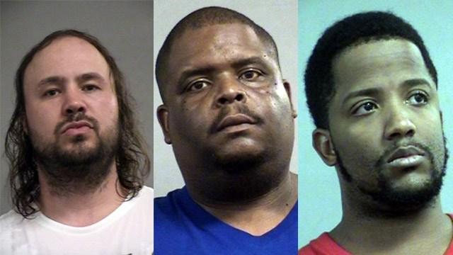 Joseph Lanham, Kristopher Reed and Prince Peterson (Source: Louisville Metro Corrections)