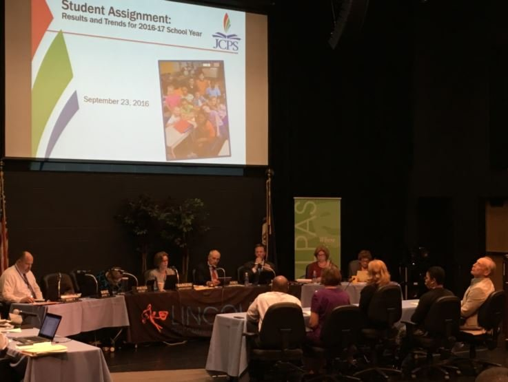 JCPS school board meeting at Lincoln Elementary School on Sept. 13, 2016