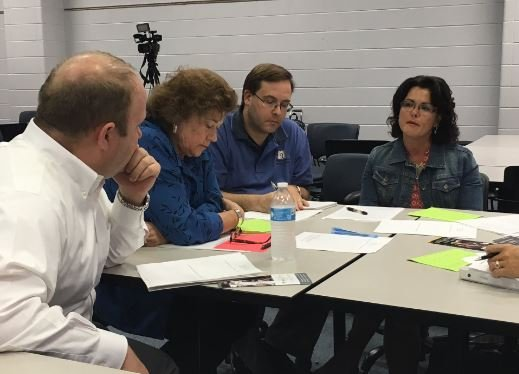 JCPS held a community forum about possible changes to its magnet school exit policy last week (Photo by Toni Konz, WDRB News)