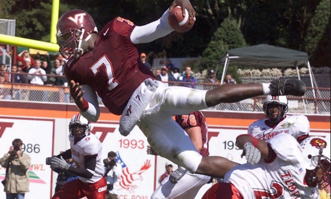 Former Virginia Tech quarterback Michael Vick said Lamar Jackson is five times the player Vick was at Virginia Tech.