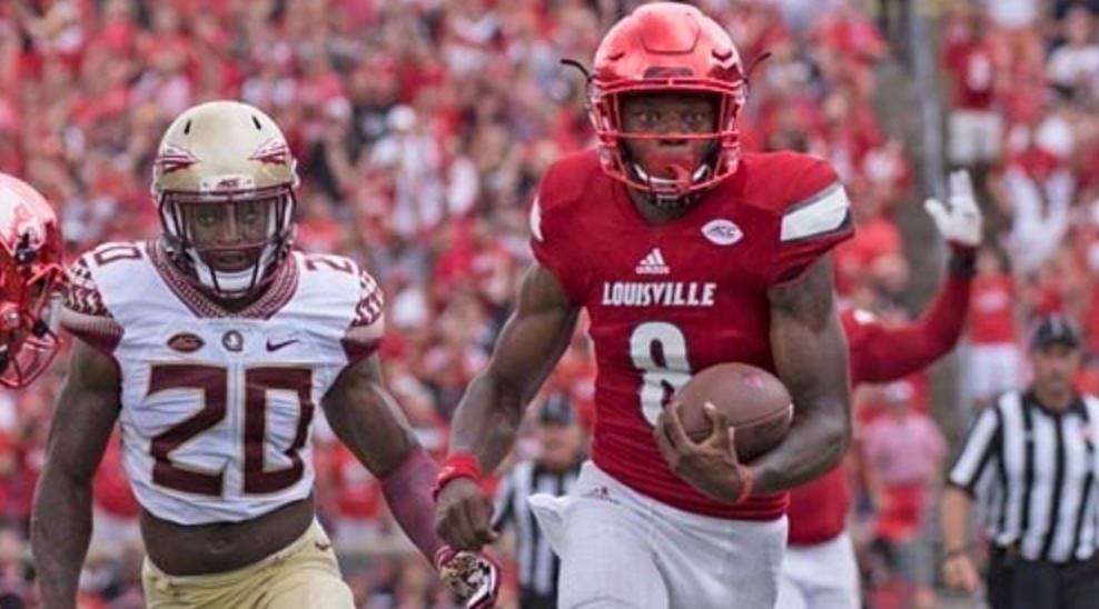 "Florida State coach Jimbo Fisher said he wished Louisville quarterback Lamar Jackson had gone to ""Hong Kong."""