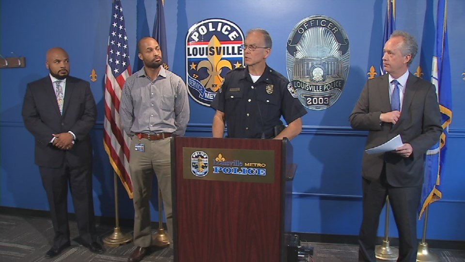 LMPD Chief Steve Conrad announced a reorganization of the department Friday.