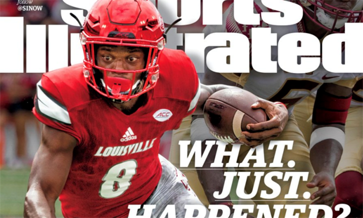 Copies of the current Lamar Jackson cover edition of Sports Illustrated are already being hawked on eBay.