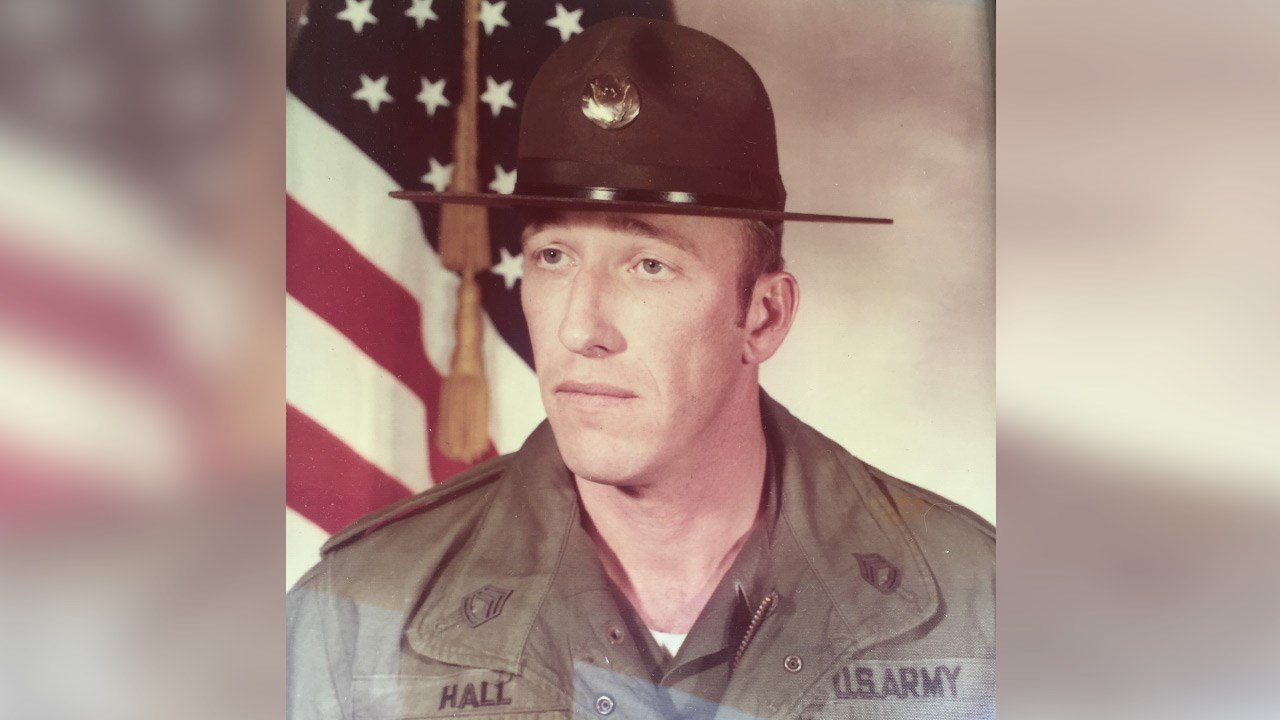 Family photo of Norman Hall during his time in the U.S. Army.