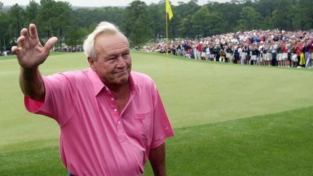 Arnold Palmer at the 2002 Masters (AP photo).