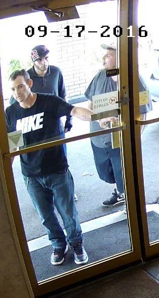 Surveillance images of the three wanted suspects. (Source: St. Matthews Police)