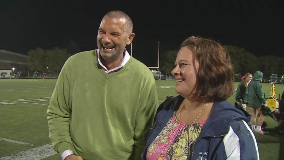 Maddie Ray's parents were beaming with pride Friday night as their daughter was crowned homecoming queen.