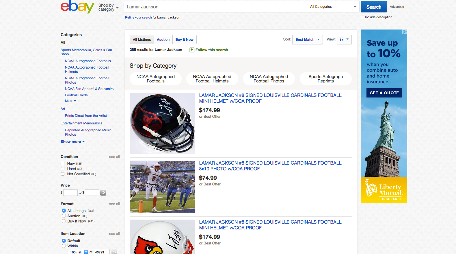 eBay screen shot