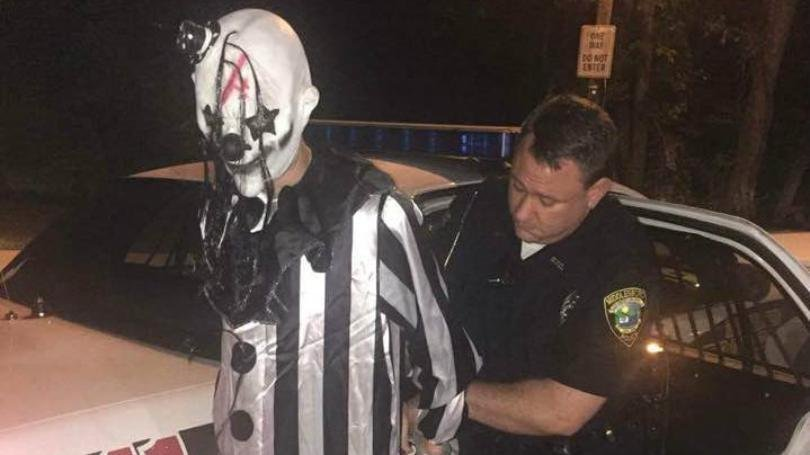 Police say 20-year-old Jonathan Martin -- seen dressed as a clown -- was arrested in Sept. in Middlesboro, Ky. disorderly conduct. Credit: Phil Pendleton/WYMT