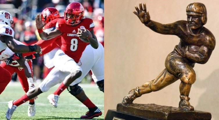 A comparison of Jamie Rhodes' USA Today photo from Saturday with the Heisman Trophy statue.