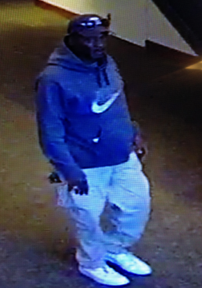 Police believe this man concealed a signed Leroy Neiman painting from the Muhammad Ali Center.