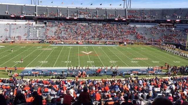 Scott Stadium at Virginia was less than half full 10 minutes before the Louisville game Saturday.