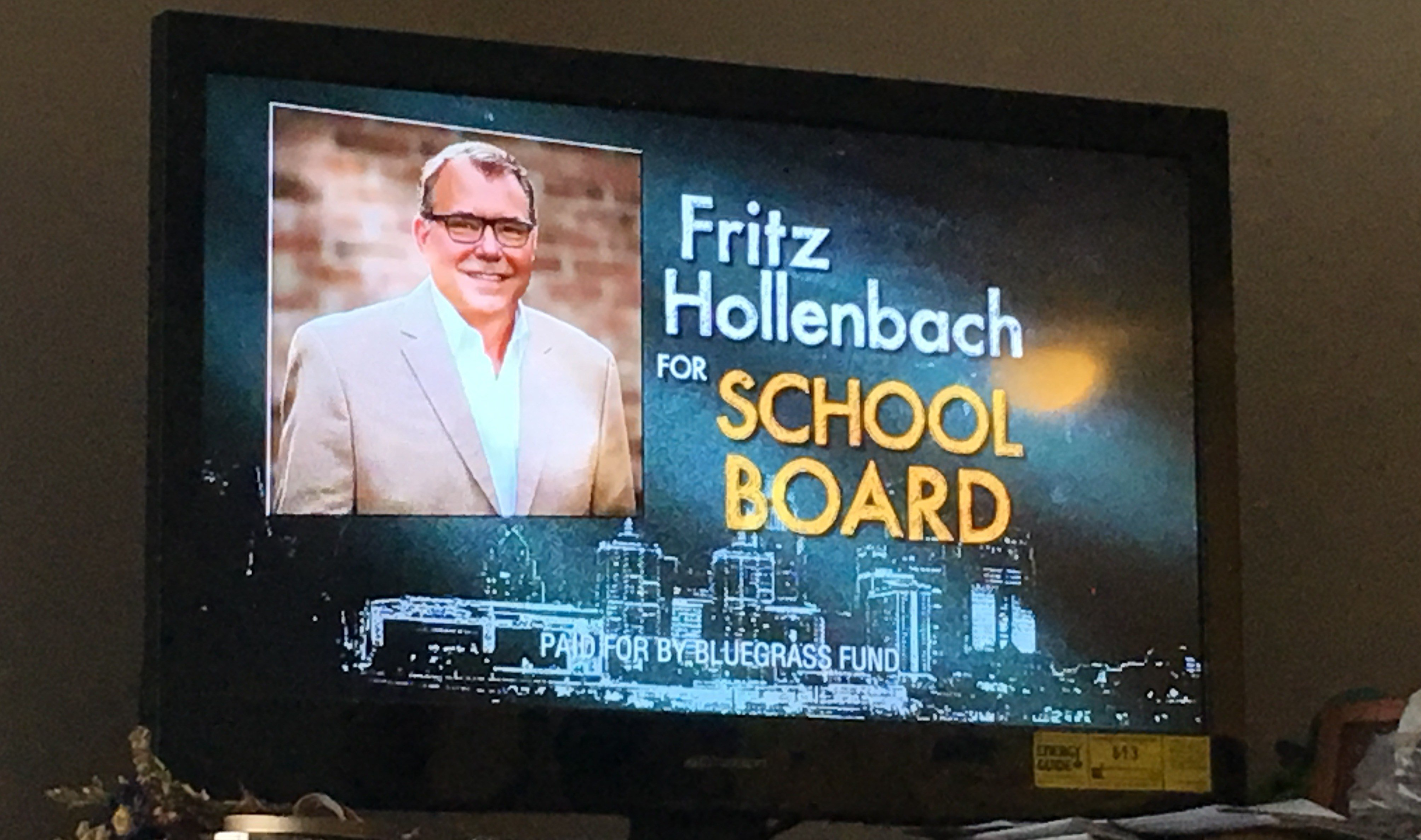 TV ad for Fritz Hollenbach paid for Bluegrass Fund