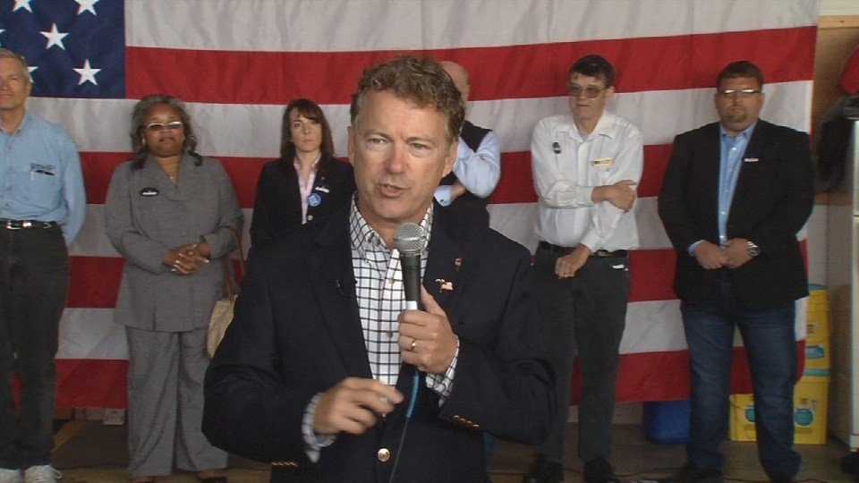 Sen. Rand Paul holds rally at Bowman Field