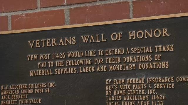 Thieves have stolen nameplates from the Veterans Wall of Honor