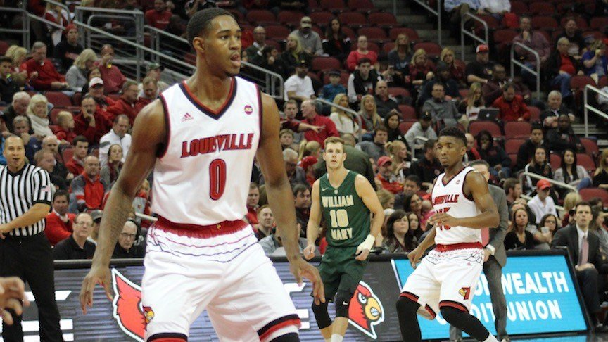 Louisville freshman V.J. King scored 17 points in Monday's win over William & Mary. (WDRB photo by Eric Crawford)