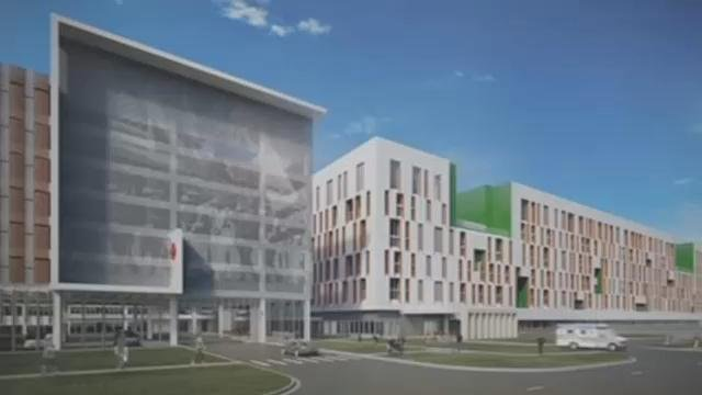 A rendering of the proposed VA Hospital