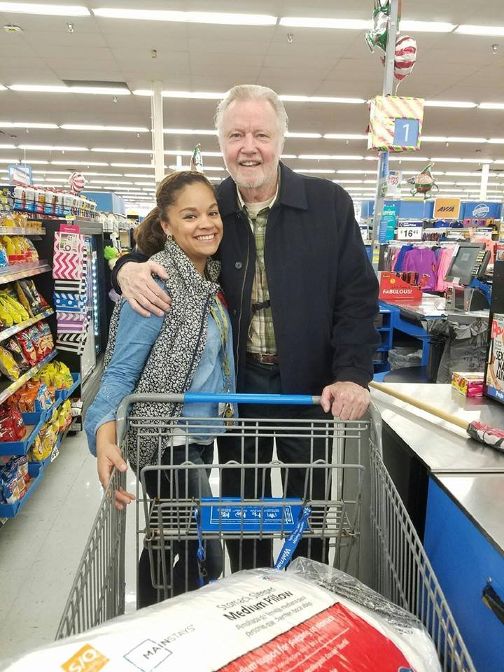 Home of the Innocents employee Sydney Gholston, pictured with actor Jon Voight. (Source: Home of the Innocents Facebook page)