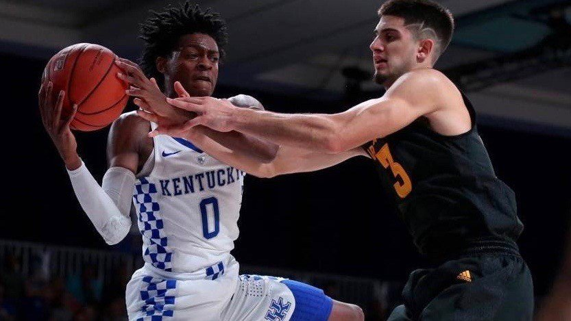 Freshman De'Aaron Fox turned in the second triple-double in Kentucky history Monday night. (UK Athletics | Chet White)