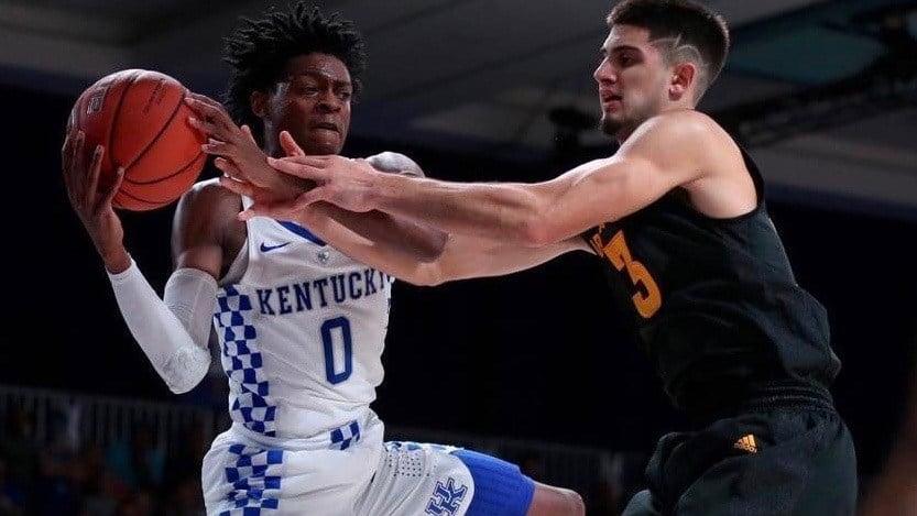 Freshman De'Aaron Fox turned in the second triple-double in Kentucky history Monday night. (UK Athletics | Chet White)
