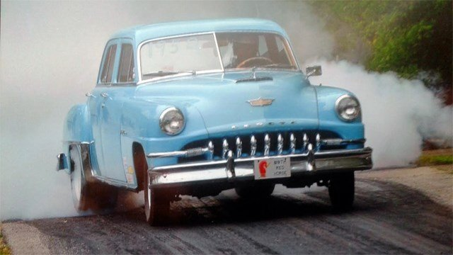 This 1952 Desoto race car was one of several items taken from a storage unit in Bullitt County.