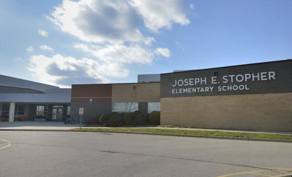 Stopher Elementary School, 14417 Aiken Road. JCPS photo.